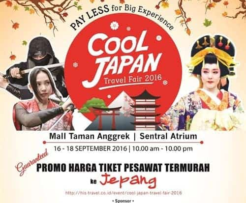 Cool Japan Travel Fair 2016  Promo tiket ke jepang termurah